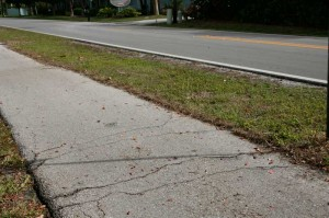Trail pavement quality is inferior to roadway pavement. The cracks and upheavals make for a jarring ride.