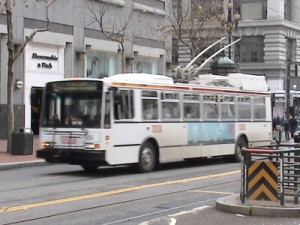 Trolley Bus on Market