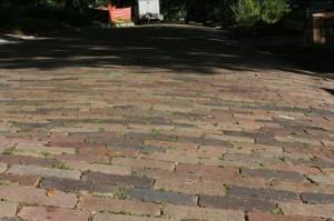 Old bricks on a residential street in Winter Park