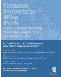 Mountain Bike Park Design Meeting