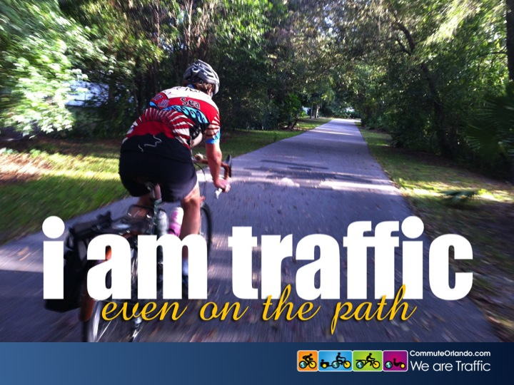 i am traffic — even on the path