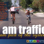 If the path is a person's first exposure to bicycling, we should make the impression that it and they are part of a system that works best when all users follow some basic rules of movement and the traffic controls that support them.