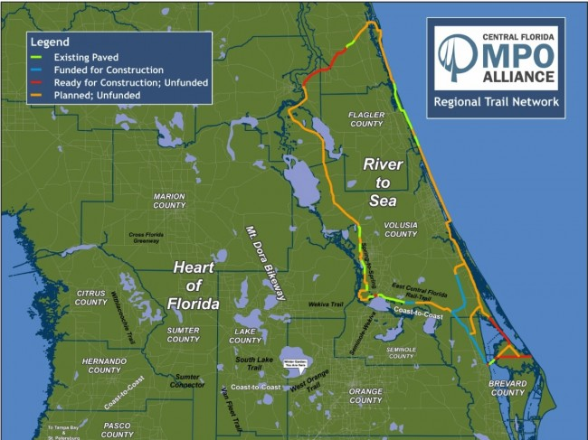 St. Johns River to the Sea loop. Some of this will be on-road.