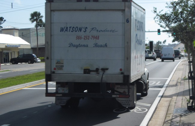 sharrows with truck 43 inches