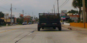 This is a typical utility trailer in a 15 foot lane.