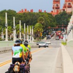 Crossing the Bridge of Lions into St. Augustine.