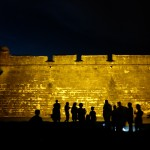 The ghost tour visits the Castillo De San Marco.
